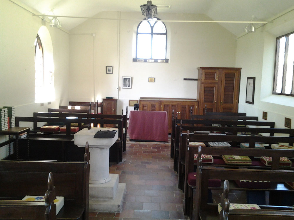 In 2013 we had the pleasure of external and interior redecoration of a 19th century church. The Church was sympathetically decorated using traditional Casein Distemper to the internal walls and stained pews and varnished altar floor area.