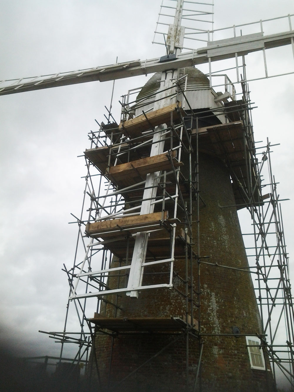 18th Century Windmill With Scaffolding